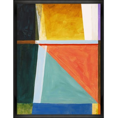 """ArtistBe by overstockArt An Abstract Painting by Clive Watts with Black Studio Angled Frame Canvas Wall Art, 42.5"""" x 32.5"""""""