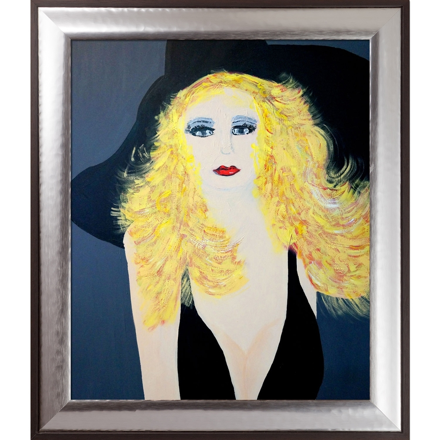 Artistbe By Overstockart I Am Blonde By Nora Shepley With Steel Natural Wood Magnesium Frame Canvas Wall Art 29 25 X 25 25 On Sale Overstock 28495293