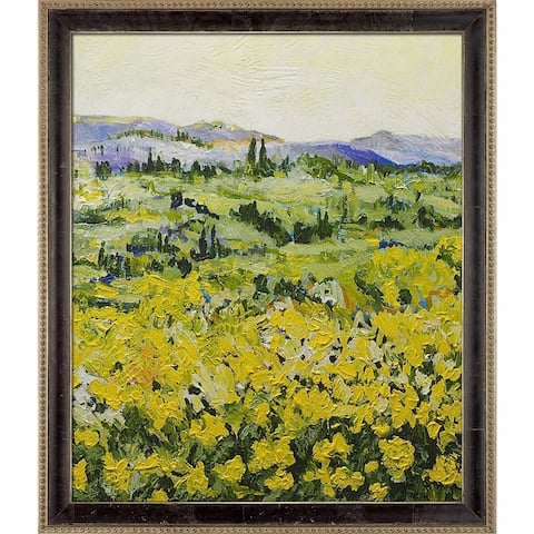 """ArtistBe My Neck of the Woods by Allan P. Friedlander w/ Cabernet and Champagne Athenaeum Frame Canvas Wall Art, 27.5"""" x 23.5"""""""