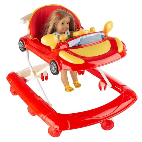 Doll Walker - Baby Doll Mobile Push Toy with Fun Car Design and Adjustable Height by Hey! Play!