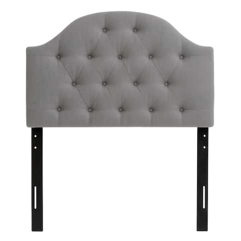 CorLiving Calera Diamond Tufted Fabric Arched Panel Headboard - Twin