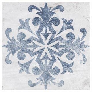SomerTile 7.75x7.75-inch Amadora Azul Ceramic Floor and Wall Tile (25 tiles/10.94 sqft.)