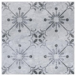 SomerTile 7.75x7.75-inch Gandia Gris Ceramic Floor and Wall Tile (25 tiles/10.94 sqft.)