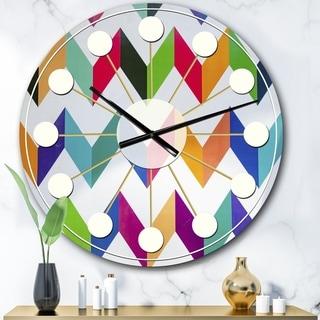 Carson Carrington Tomming 'Geometrical Retro Design III' Mid-Century Wall Clock