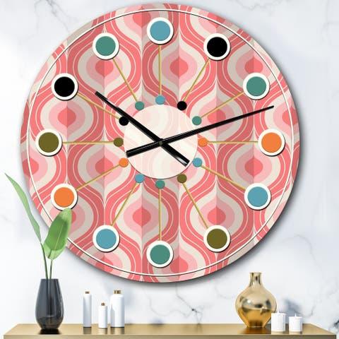 Designart 'Retro Drop Design I' Mid-Century wall clock