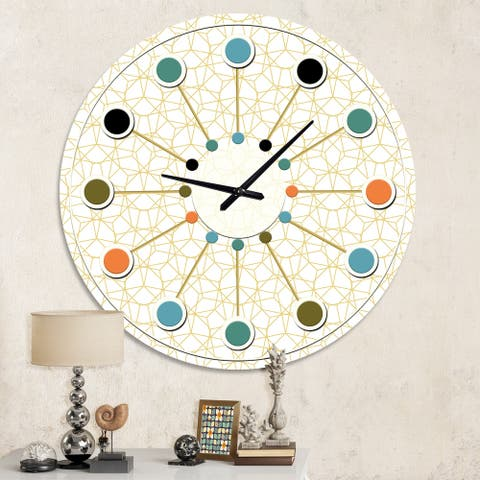 Porch & Den 'Abstract Geometrical ' Mid-century Wall Clock