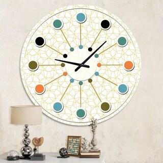 Designart 'Abstract Geometrical ' Mid-Century wall clock
