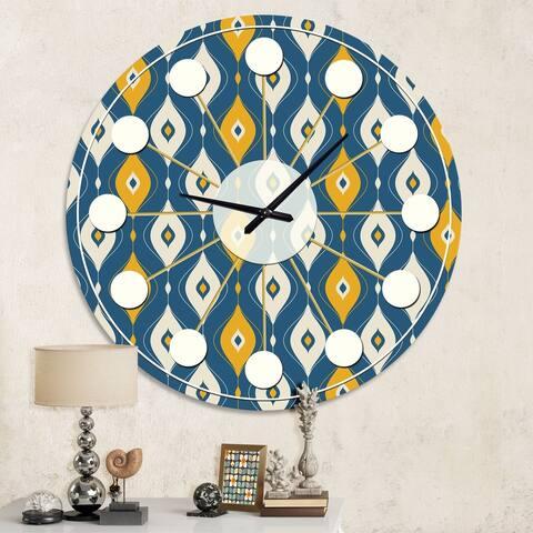 Designart 'Retro Abstract Pattern II' Mid-Century wall clock
