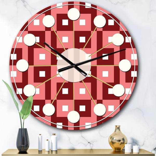 Designart 'Retro Abstract Pattern Design IV' Mid-Century wall clock