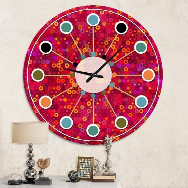 Designart 'Circular Retro Design III' Mid-Century wall clock