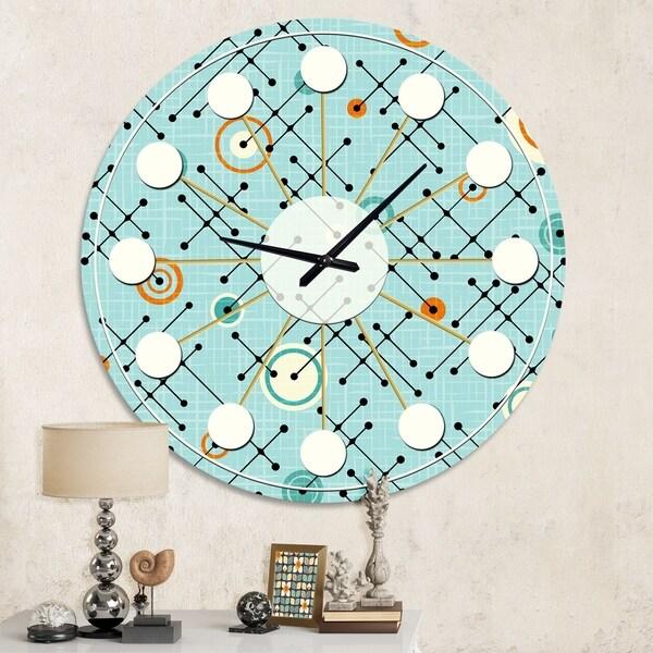 Designart 'Retro Abstract Design XIV' Mid-Century wall clock