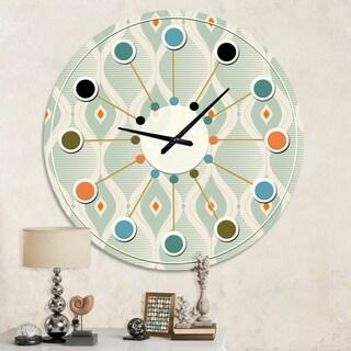 Designart 'Retro Abstract Drops VII' Mid-Century wall clock