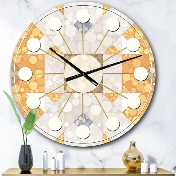 Designart 'Geometric Retro Design I' Mid-Century wall clock
