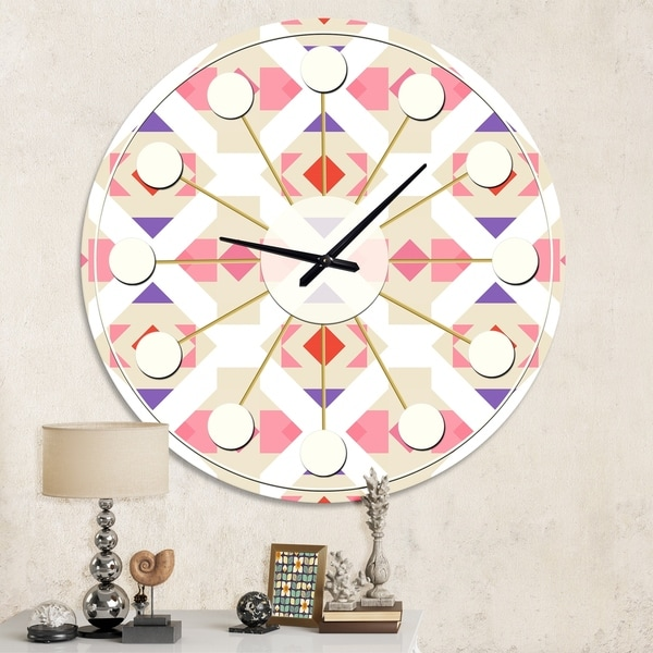 Designart 'Triangular Retro Design VII' Mid-Century wall clock