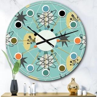 Designart '1950 Retro Pattern I' Mid-Century wall clock