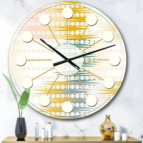 Designart 'Retro Abstract Design VIII' Mid-Century wall clock