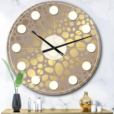 Porch & Den 'Golden Marble Design III' Mid-Century Wall Clock
