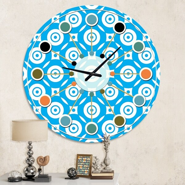 Designart 'Retro Ornamental Design IV' Mid-Century wall clock