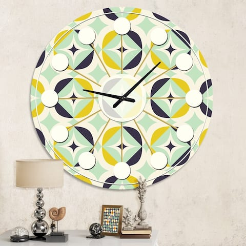 Designart 'Diamond Retro V' Mid-Century wall clock