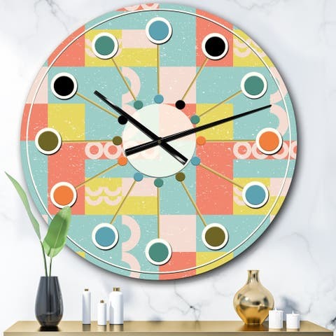 Designart 'Retro Abstract Design III' Mid-Century wall clock