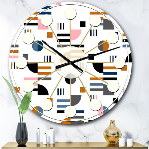 Designart 'Retro Abstract Design XI' Mid-Century wall clock