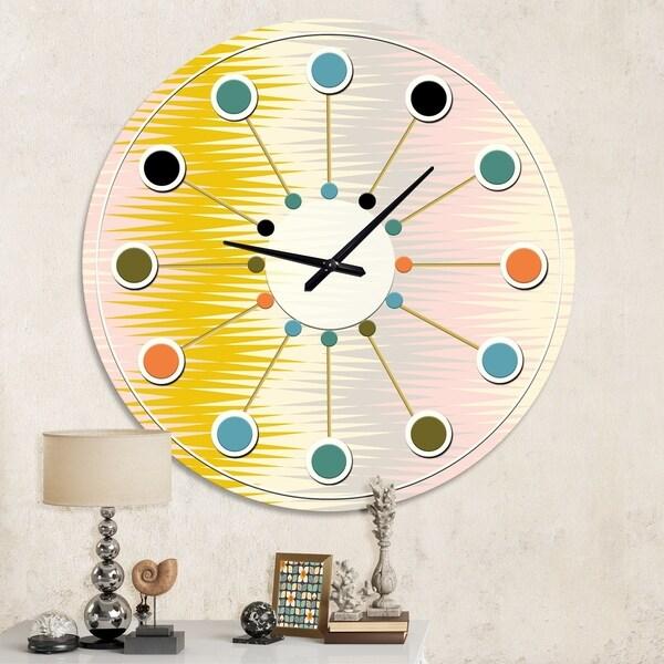Designart 'Retro Abstract Design IV' Mid-Century wall clock