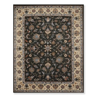 Traditional Hand Tufted Wool Oriental Area Rug (8'x10') - 8' x 10'