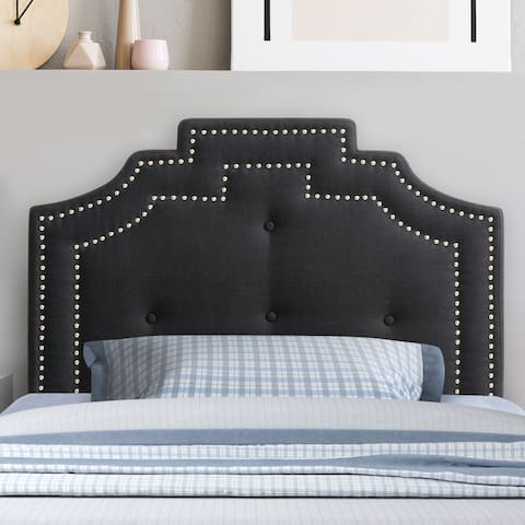 CorLiving Aspen Crown Silhouette Headboard with Button Tufting - Twin/Single