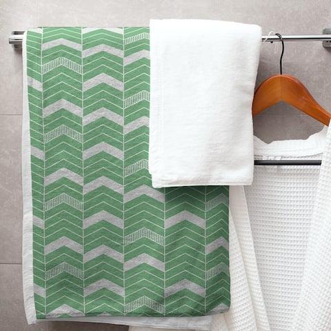 Single Color Lined Chevrons Bath Towel - 30 x 60