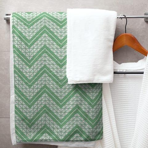 Classic Hand Drawn Chevron Pattern Bath Towel - 30 x 60