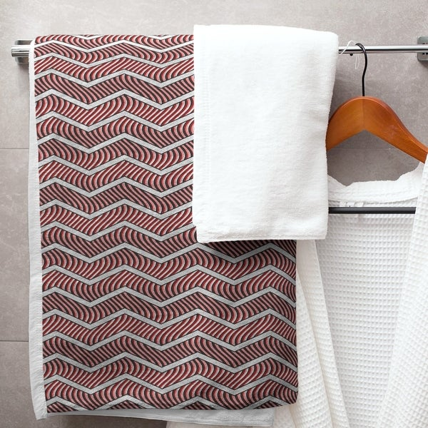 Wavy Chevrons Bath Towel - 30 x 60
