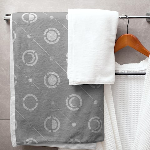 Classic Moon Phases Pattern Bath Towel - 30 x 60