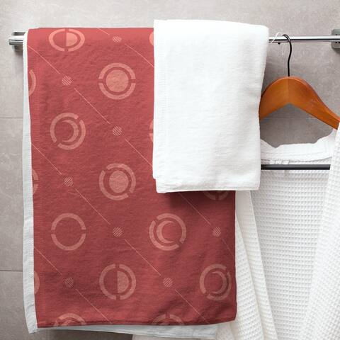Monochrome Moon Phases Pattern Bath Towel - 30 x 60