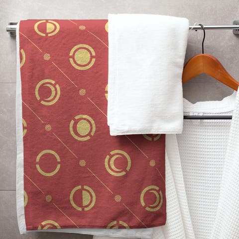 Two Color Moon Phases Bath Towel - 30 x 60