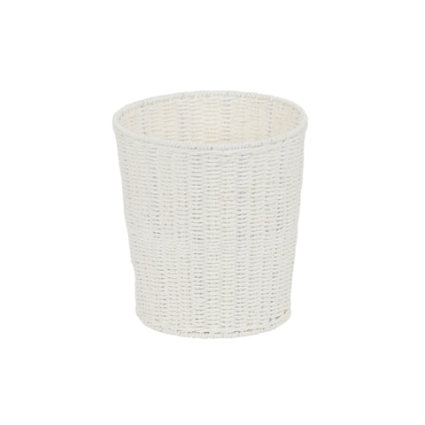 Household Essentials White Paper Rope Waste Basket Trash Bin