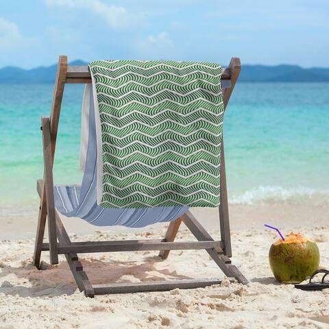 Wavy Chevrons Beach Towel - 36 x 72