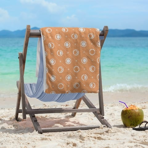 Classic Moon Phases Pattern Beach Towel - 36 x 72