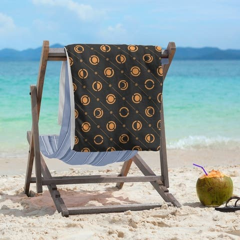Black & Color Moon Phases Beach Towel - 36 x 72