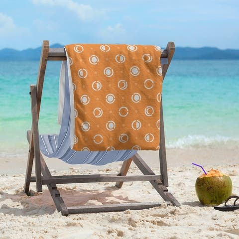 Monochrome Moon Phases Pattern Beach Towel - 36 x 72