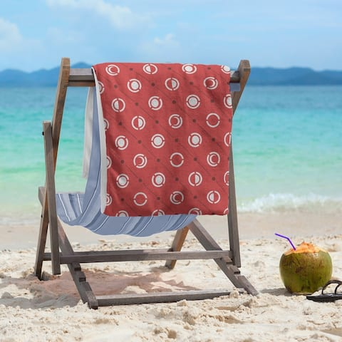 Three Color Moon Phases Pattern Beach Towel - 36 x 72