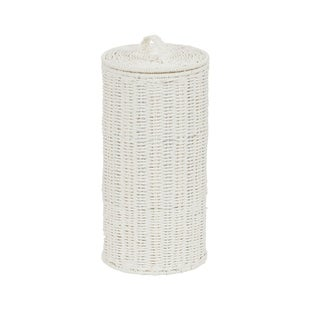Household Essentials White Paper Rope Toilet Paper Roll Holder