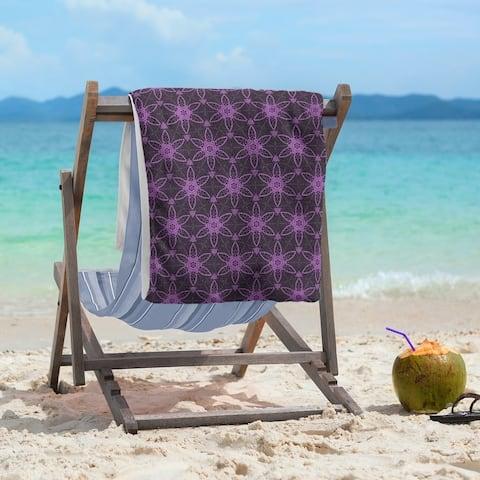Classic Ornate Circles Beach Towel - 36 x 72