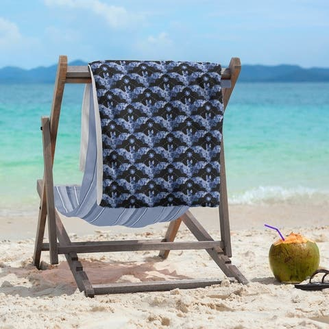 Porch & Den Yarrow Floral Bats Beach Towel - 36 x 72