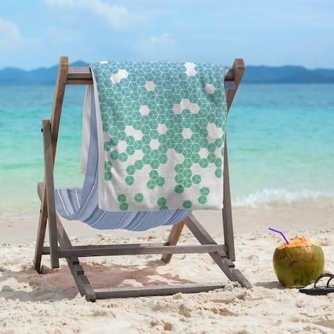 Tumbling Cube Pattern Beach Towel - 36 x 72
