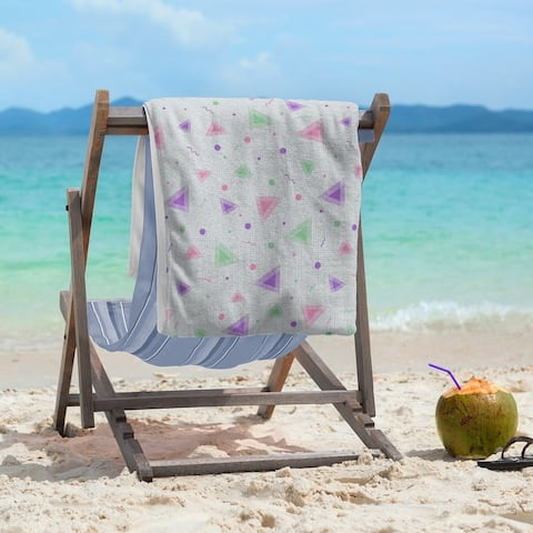 90's Retro Pattern Beach Towel - 36 x 72