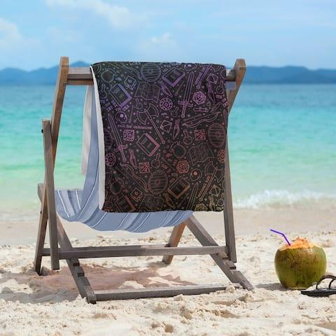 Color Lines RPG Pattern Beach Towel - 36 x 72
