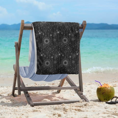 Astrology Pattern Beach Towel - 36 x 72