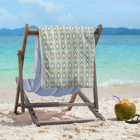 Full Color Arrow Diamonds Beach Towel - 36 x 72