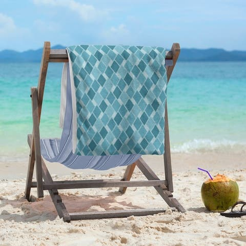 Retro Diamonds Beach Towel - 36 x 72