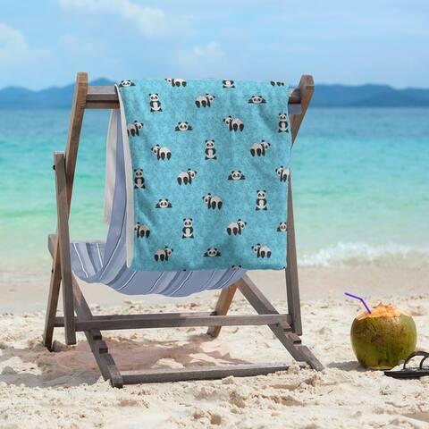 Porch & Den Bauman Panda Pattern Beach Towel - 36 x 72